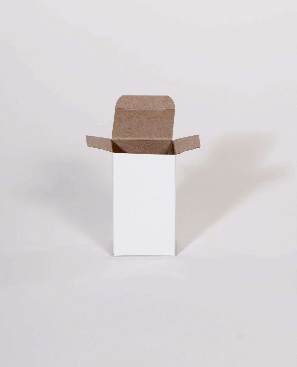 White Reverse Tuck Folding Cartons 1000//Case 2 3//8 x 7//8 x 2 3//8