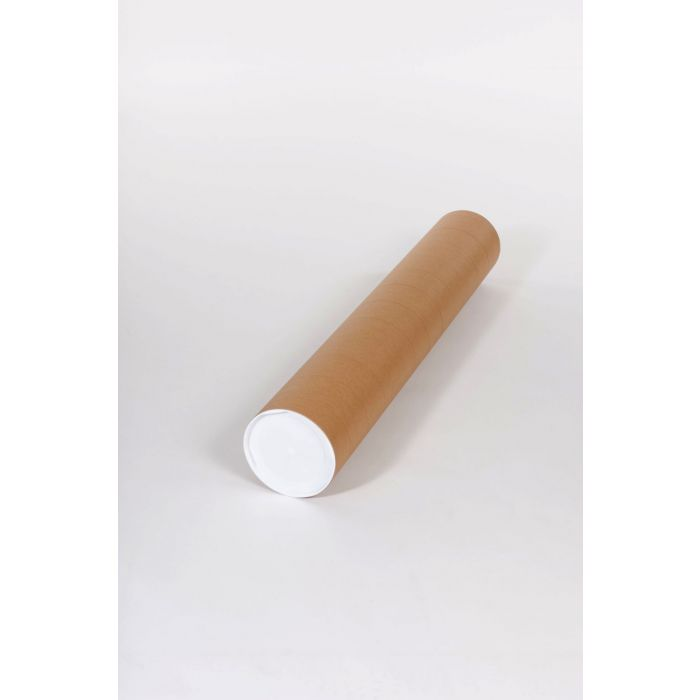 2 x 48 Pack of 50 Kraft BOX USA BP2048K Mailing Tubes with Caps