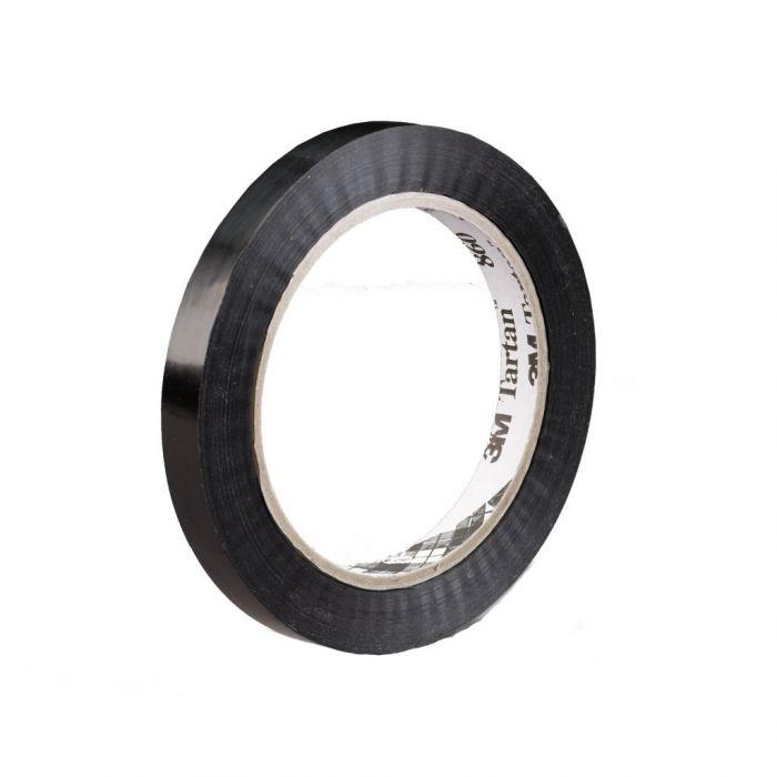 """3/4"""" x 60 yds. 2.8 Mil Black 110lbs. Tensile Strength 3M #860 Tartan™ Polypropylene Stapping Tape (96/case)"""