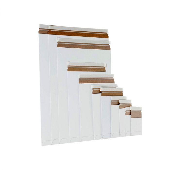 White Self-Seal Stayflats Mailers